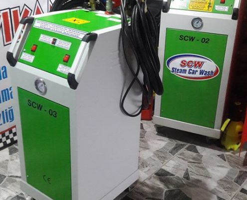 Steam car wash equipment